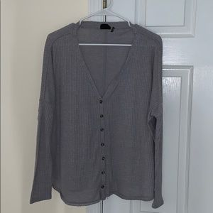 Urban Outfitters gray button down thermal